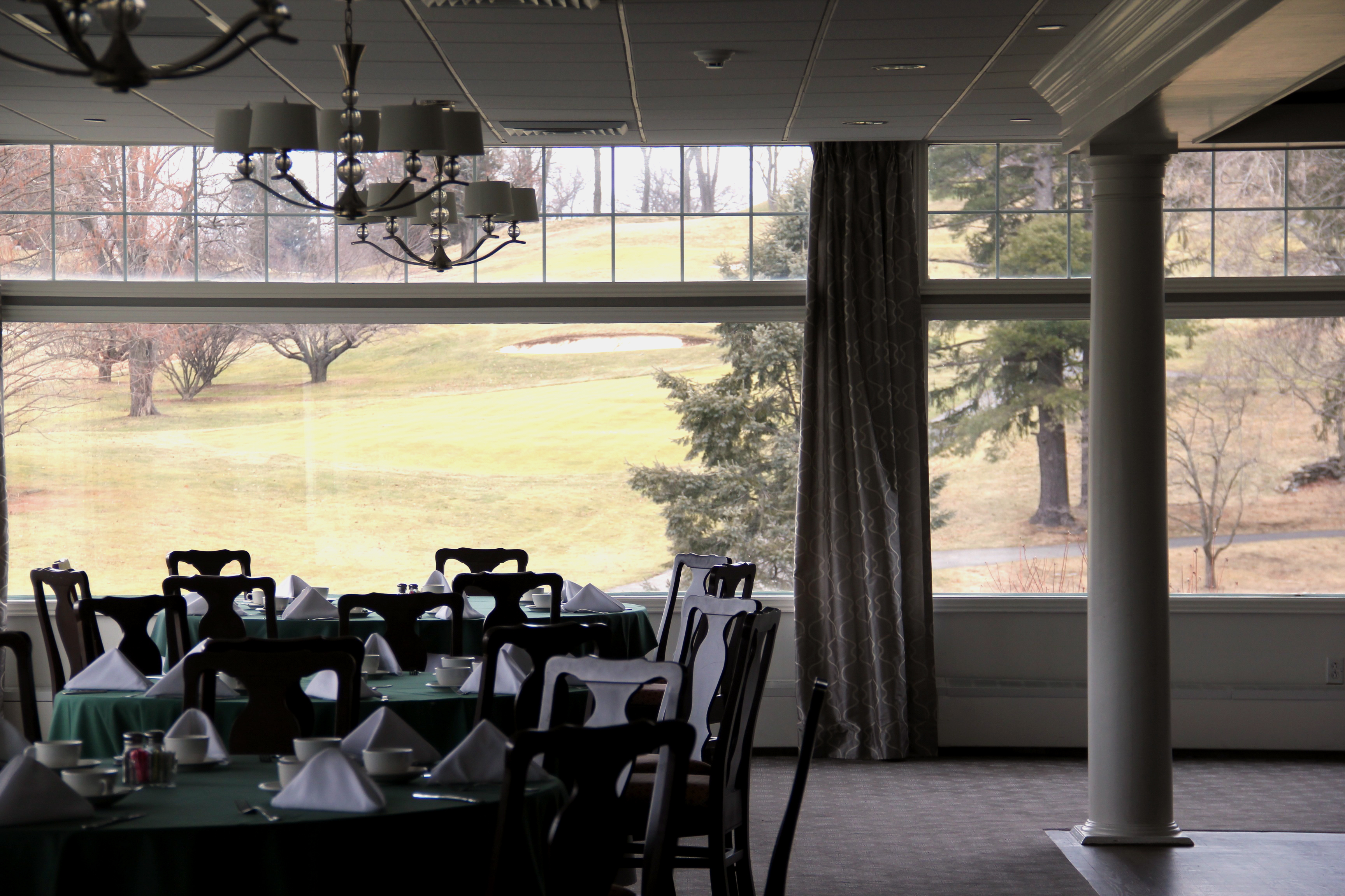 Country club dining room