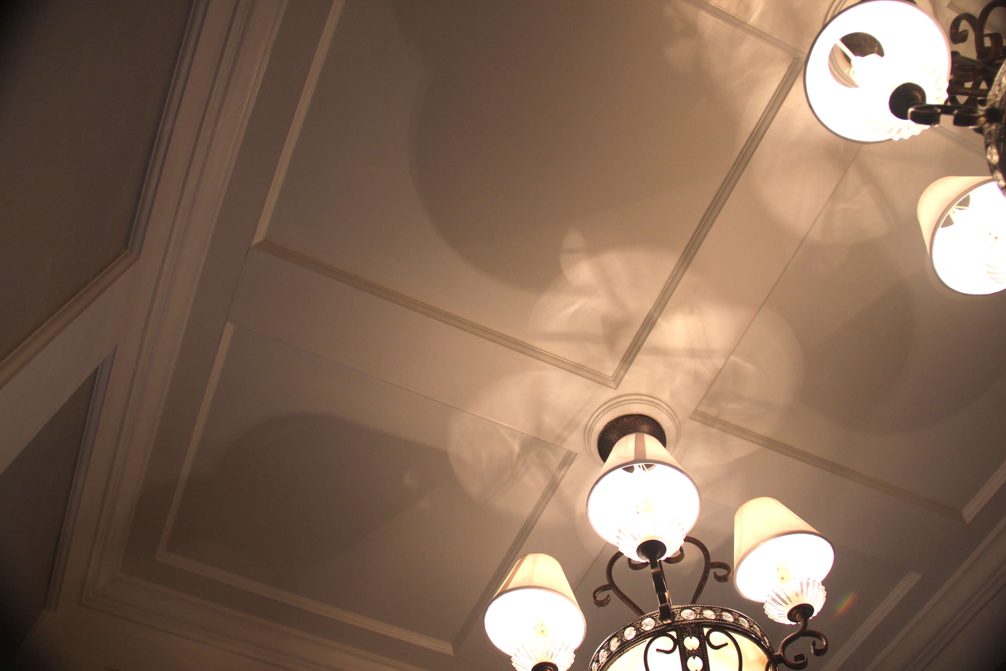Country club entryway ceiling